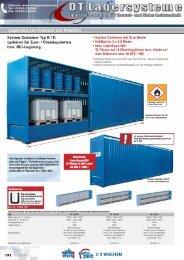 Lagerung von Fässern auf Paletten - DT Lagersysteme
