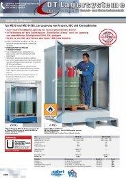 Gefahrstoffdepots 5Garantie - DT Lagersysteme
