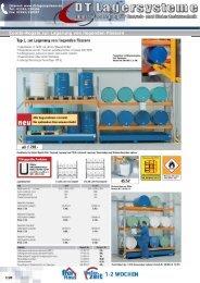 Combi-Regale Typ L, zur Lagerung von ... - DT Lagersysteme