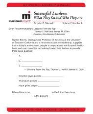 Successful Leaders: - La Bella Baskets Training