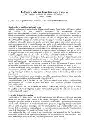 La Calabria nella sua dimensione spazio temporale - Centro di ...