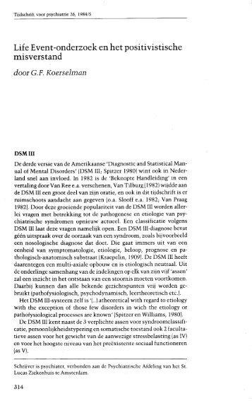volledige tekst - Tijdschrift voor Psychiatrie