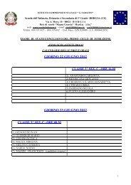 Calendario prove orali esami 2012 - Istituto Comprensivo