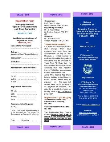 details - Jamia Millia Islamia