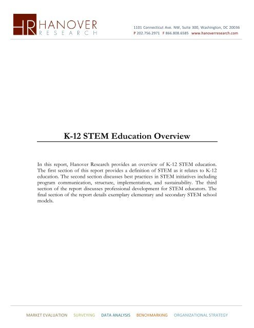 K 12 STEM Education Overview Hanover Research