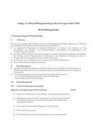 Anlage 1 zur Weiterbildungsordnung in der Fassung vom 05.11 ...