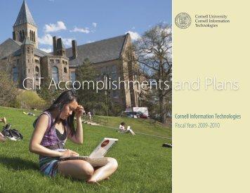CIT Accomplishments and Plans - Computing at Cornell - Cornell ...