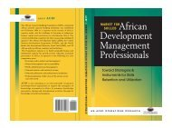 Market for Skilled African Development Management Professionals