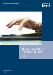 INFORMATION TECHNOLOGY - University of Kent