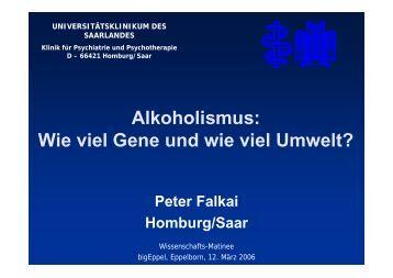 Neuronale Korrelate der Alkoholabhängigkeit - Wissenschaftsforum ...