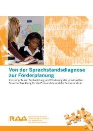 Sprachstandsdiagnose und Förderplanung - RAA NRW