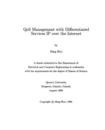 QoS Management wit h Differentiated Services IP over the Internet