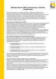 Windows Server 2008 Lizenzierung in virtuellen  ... - ICSmedia