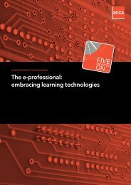 The e-professional: embracing learning technologies - ACCA