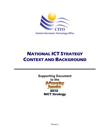 national ict strategy context and background - Central Information ...