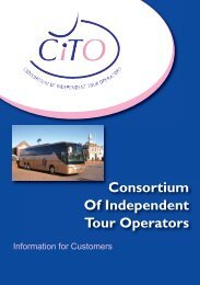 Consortium Of Independent Tour Operators - Welsh's Coach Holidays