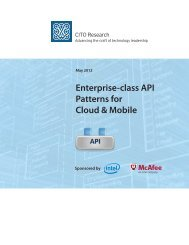 Enterprise-class API Patterns for Cloud & Mobile - Government ...