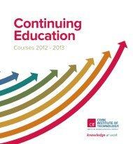 CIT's Continuing Education Handbook 2012 - Cork Institute of ...