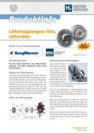 Produktinfo - MS Motor Service Deutschland GmbH