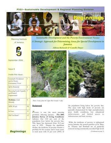 Beginnings Issue 8.pub - Planning Institute of Jamaica
