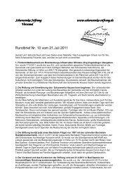 Rundbrief Nr. 10 vom 21.07.2011 - Scharwenka Stiftung