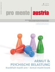 Armut & psychische belAstung - pro mente Burgenland