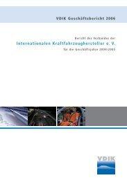 Internationalen Kraftfahrzeughersteller e. V. - Creative Consult ...