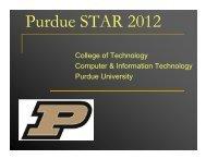 Meeting Presentation (.pdf) - College of Technology - Purdue ...