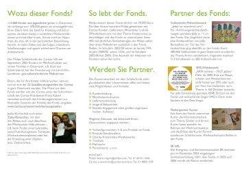 Partner des Fonds: So lebt der Fonds. Wozu dieser Fonds ... - Philips