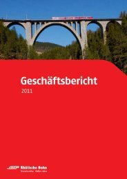 Geschäftsbericht - Rhätische Bahn
