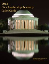 2013 Civic Leadership Academy Cadet Guide - Special Activities
