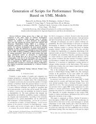 Generation of Scripts for Performance Testing Based on UML Models