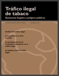 Tráfico ilegal de tabaco - Campaign for Tobacco-Free Kids
