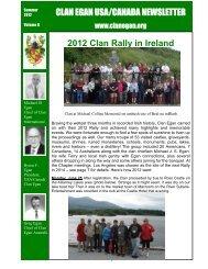 CLAN EGAN USA/CANADA NEWSLETTER 2012 Clan Rally in Ireland