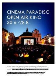 Das Open Air Kino findet gemeinsam mit dem ... - Cinema Paradiso