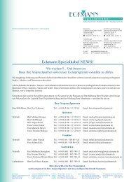 Vorstellung / aktuelle Kontaktdaten und Portfolio auf einen Blick