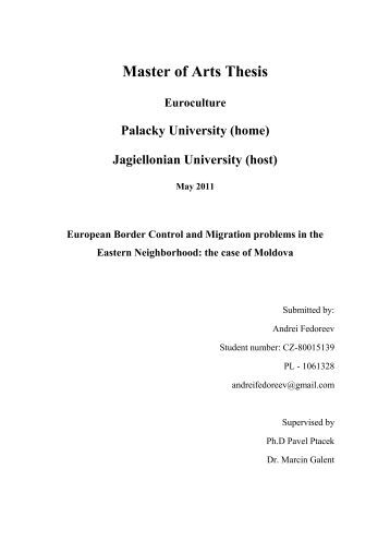 Master of arts thesis