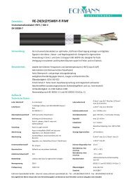 RE-2X(St)2YSWBY-fl PiMf - bei Eckmann-Spezialkabel.de