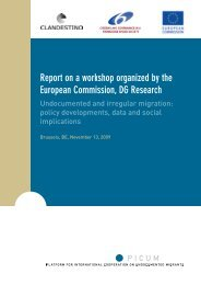 Report on a workshop organized by the European ... - PICUM