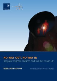 NO WAY OUT, NO WAY IN - COMPAS - University of Oxford