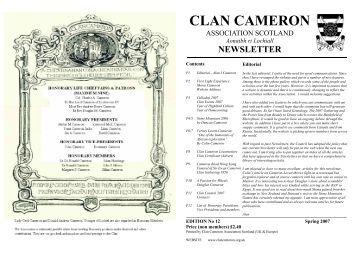 CLAN CAMERON - The Clan Cameron Association Scotland.