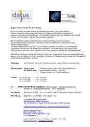 cpc augenfitness-seminar angebot hess wn 01+03+04 ... - Hess GmbH