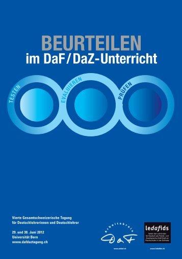 BEURTEILEN - DaF DaZ Tagung