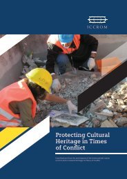 Protecting Cultural Heritage in Times of Conflict - Iccrom