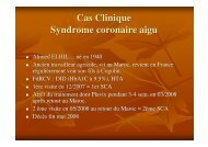 Cas Clinique Syndrome coronaire aigu