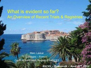 FRANCE 2 - ESCVS Dubrovnik 2012