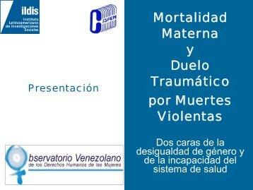 """Presentación """"Mortalidad Materna y Duelo Traumático: Dos ... - Ildis"""