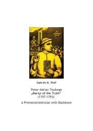 Pierre-Adrien Toulorge: A - Postulator Generalis Ordinis ...