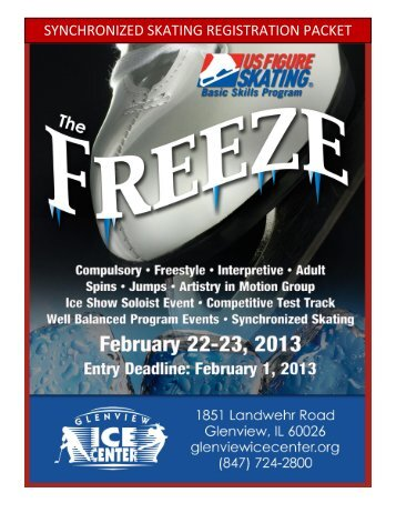 Entry Deadline is February 1, 2013 - Glenview Park District