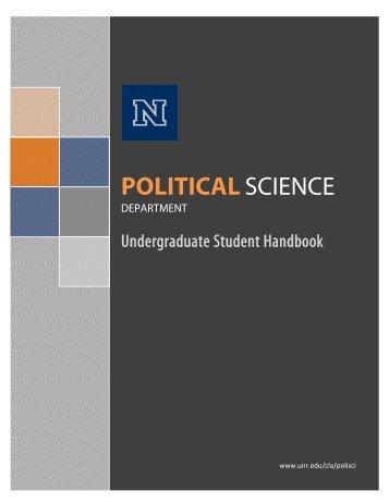 politicalscience - University of Nevada, Reno